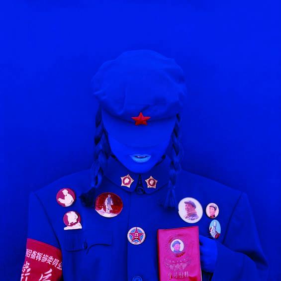 2014-07-30-KimikoYoshidaTheMaoBrideRedGuardBlueholdingtheLittleRedBook2010courtesyM.I.AGallery (1)