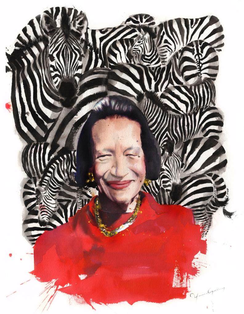 Marcela-Gutierrez-Diana-Vreeland-Im-coming-for-the-Zebras